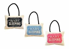 Shhh Baby Sleeping Soft Door Hanger Available in 3 Colors Made in the USA