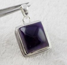 Natural Purple Amethyst Gemstone 925 Sterling Silver Party Wear Women Pendant