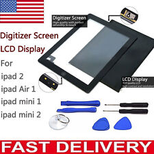 Front Touch Screen Digitizer Glass LCD Replacement For iPad 2 Air 1 Mini 1 2 Lot
