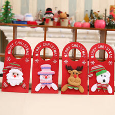 AL_ Lovely Xmas Santa Claus Snowman Moose Bear Christmas Door Hanger Decor Relia