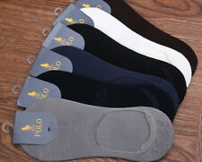 20 Pairs Mens Casual Solid HJC Polo 100% Cotton Socks No Show Loafer Boat Socks