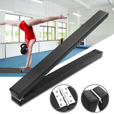 8FT Foldable Gymnastics Training Balance Beam Low Height Gymnasts Practice Tool