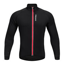 Sports Windproof Cycling Bike Breathable Jacket Long Sleeve Jersey Black Red