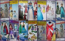 CHOOSE one GIRL'S Costume PATTERN Elsa Anna Belle Cinderella Monster High