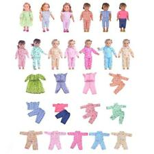 """Clothes Suit for 18"""" American Girl Zapf Baby Born Doll Shirt Pants Dress Pajamas"""
