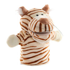 24cm Soft Plush Zoo Animals Hand Puppets for Kids Pretend Role Play Toys Gifts
