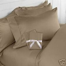"""All Bedding Items """"Taupe"""" Solid/Stripe 1000 TC Best Egyptian Cotton All US Sizes"""