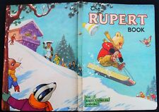 VINTAGE ORIGINAL 1956 RUPERT BEAR ANNUAL, PRICE UNCLIPPED 4/6