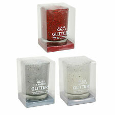 14862 glass candles 3 assorted glittery colours by straits Retail price