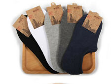 30 Pairs 100% Cotton Men's Loafer Boat No Show Nonslip Liner Low Cut Socks Pure