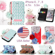 Luxury Leather Slot Magnetic Wallet Stand Flip Cover Skin Case For iPhone Series