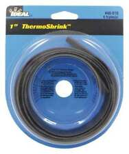IDEAL 46-610 Shrink Tubing, 1.043 In ID, Bl, 4 ft, PK 5