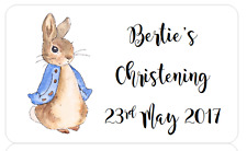 PERSONALISED STICKERS ADDRESS LABELS BABY SHOWER PETER RABBIT CHRISTENING