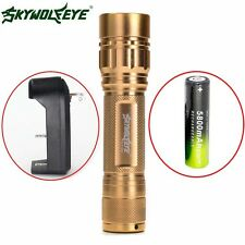 ZOOM 3Modes Zoomable 15000LM  XML T6 LED Flashlight Torch 18650+Charger New AT