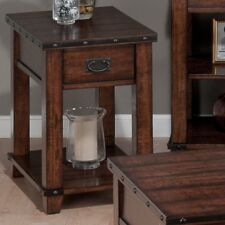 Jofran Cassidy Chairside Table - Burnished Brown