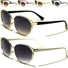 NEW SUNGLASSES LADIES WOMENS CAT EYE DESIGNER RETRO VINTAGE METAL RHINESTONE