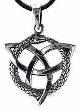 Snakes Pendant 925 Sterling Silver Snake Serpent Two Knot nr.326