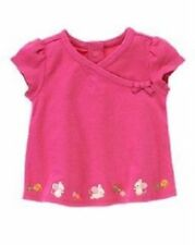 NWT Gymboree Girls Cute as a Mouse Pink Wrap Look Shirt Size 6-12 & 12-18 M