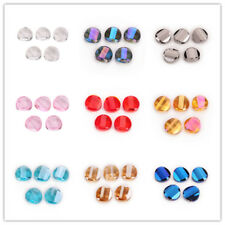 Bulk Charm 18mm Faceted Glass Crystal Twist Tile Beads Loose Spacer Bead Finding
