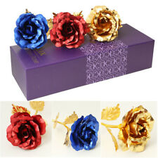 Artificial 24K Foil Plated Rose Flower with Gift Box for Lover Valentine's Day