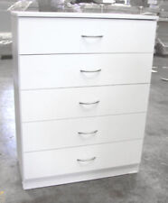 New 5 Drawer Tallboy Chest Of Drawers Cabinet White Colour