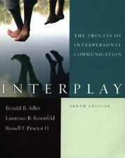 Interplay the process of interpersonal communication ebay interplay the process of interpersonal communication by adler ronald b rose fandeluxe Images