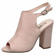 Felicia Womens Mid High Block Heels Peep Toe Ankle Boots Ladies Shoes Style Size