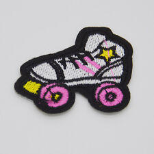 cute Roller skates cloth Embroidered Iron sew on patch applique badge DIY Motif