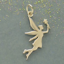 925 Sterling Silver Fairy Fairytale Magical Charm Pendant Necklace Fantasy 1615