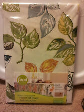 Food-Network-60x120-Tablecloth-Stain-Resistant-Multi-Color-Leaves-Microfiber