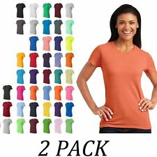 Women Tshirt Pack of 2-Gildan Tops-Ladies Heavy Cotton Ladies T-Shirt Value Pack