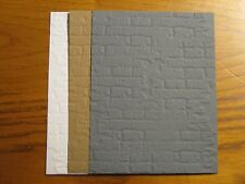 6 Embossed Card Fronts:  Brick Choose Color Handmade Card Stampin Up!