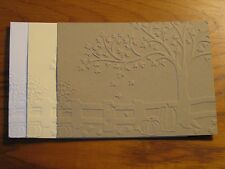 Embossed Card Fronts: Fall Fence Choose Color Handmade Card Stampin Up