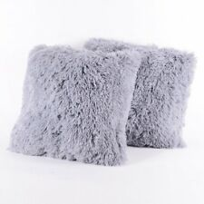 Faux Fur Throw Pillows - Set of 2 by Popular Home