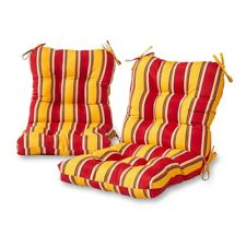 Greendale Home Fashions 42 x 21 in. Outdoor Chair Cushions - Striped - Set of 2
