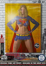 Supergirl - Sunset City Comic Art Print Series - Available in Two Sizes A4 & A3