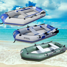 7.5/8.8ft Inflatable Kayak Raft Dinghy Boat 3-4 Persons FISHING Boat +Oars UK!!!