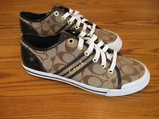 New Coach Signature Folly Sneakers Shoes Brown Women's  8 B