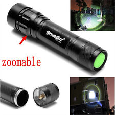 Tactical 15000LM 3 Modes T6 LED Flashlight Torch Lamp Light Fit 18650 Zoomable Y