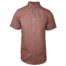 NWT Mens Obey Salmon Short Sleeve Woven (Retail: $90)