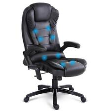 NEW 8 Point Massage Executive PU Leather Office Chair Black