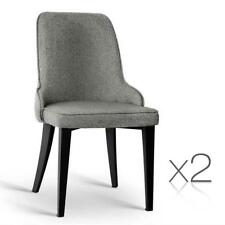 NEW Set of 2 Fabric Dining Chairs Grey
