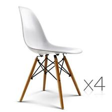 NEW Set of 4 Replica Eames Eiffel Dining Chairs White