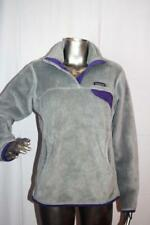 Womans Patagonia Gray & Purple Synchilla Snap-T Fleece Pullover Jacket Size M