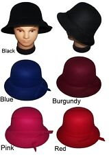 Felt Hats Fedora Trilby Hats For  Women 5 Color Choice  (Felthat2  ^)