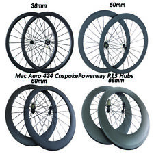 24 38 50 60 88mm Deep Powerway R13 Hubs Front and Rear single Bike Carbon Wheels