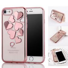 Glossy Silicone Shockproof Butterfly Rubber Soft Case Cover For iPhone X 8 7 6s