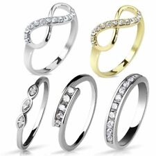 Ladies Finger Ring Engagement Ring Rhodium-plated or Gold Plated RS59