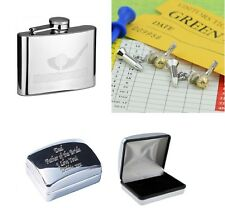 Golf Driver Cufflinks In Case can be Engraved Personalised XSSHF116+XDCB+AJ514