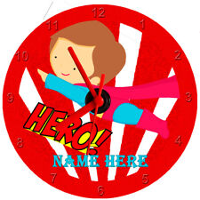 Super Hero Cd Clock, Personalised, Free Stand, Gift Box, Birthday, Gift, Novelt